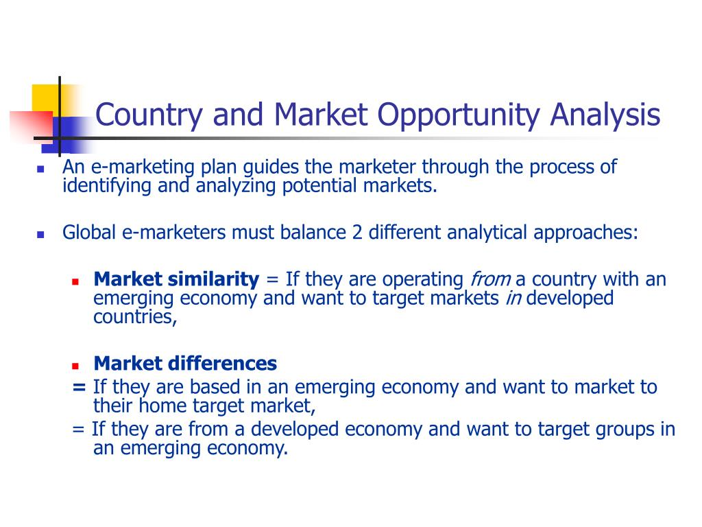 Country and Market Opportunity Analysis