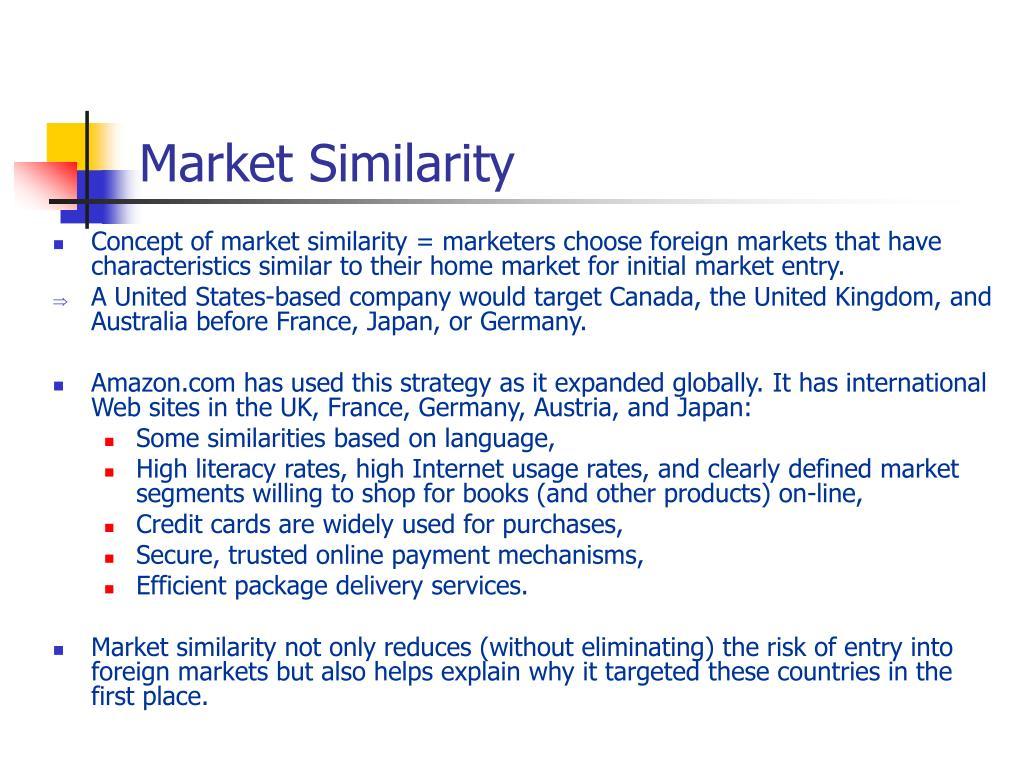 Market Similarity
