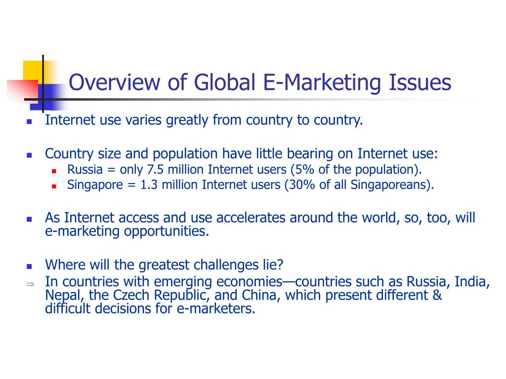 Overview of Global E-Marketing Issues