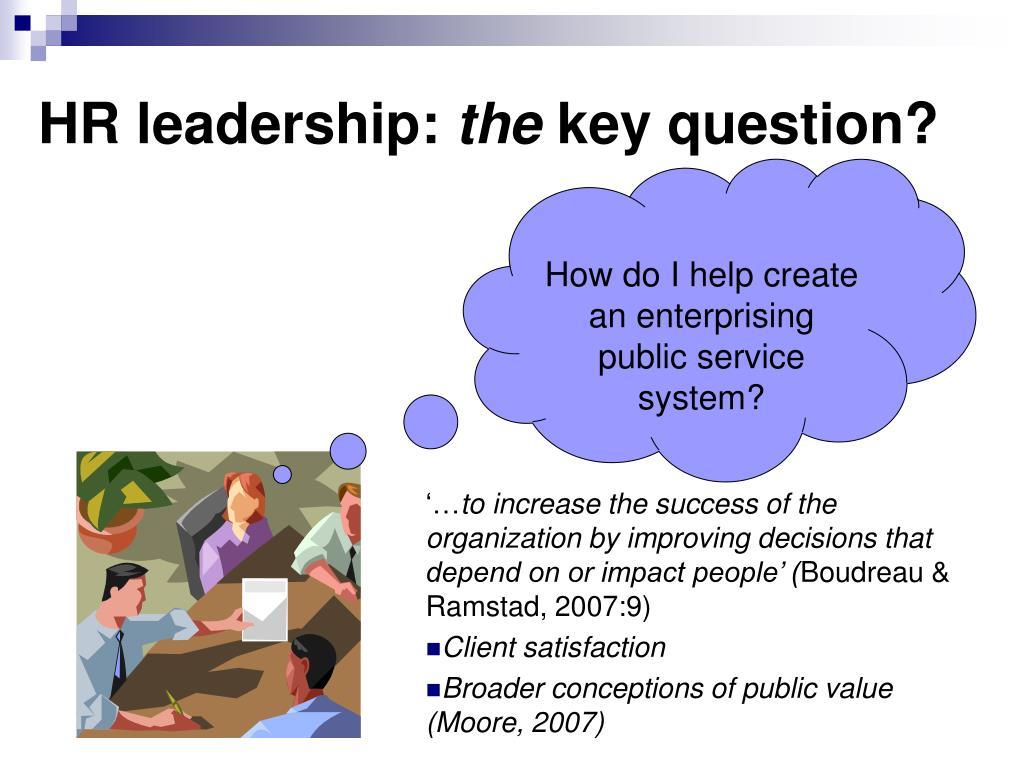 HR leadership: