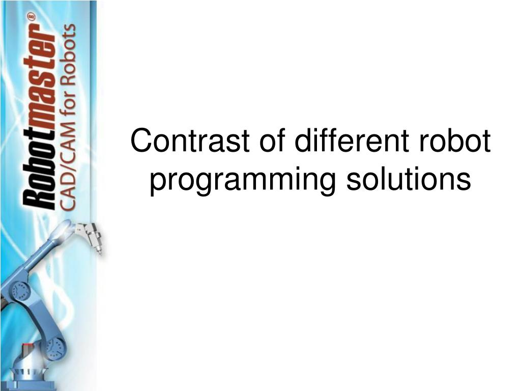 Contrast of different robot programming solutions