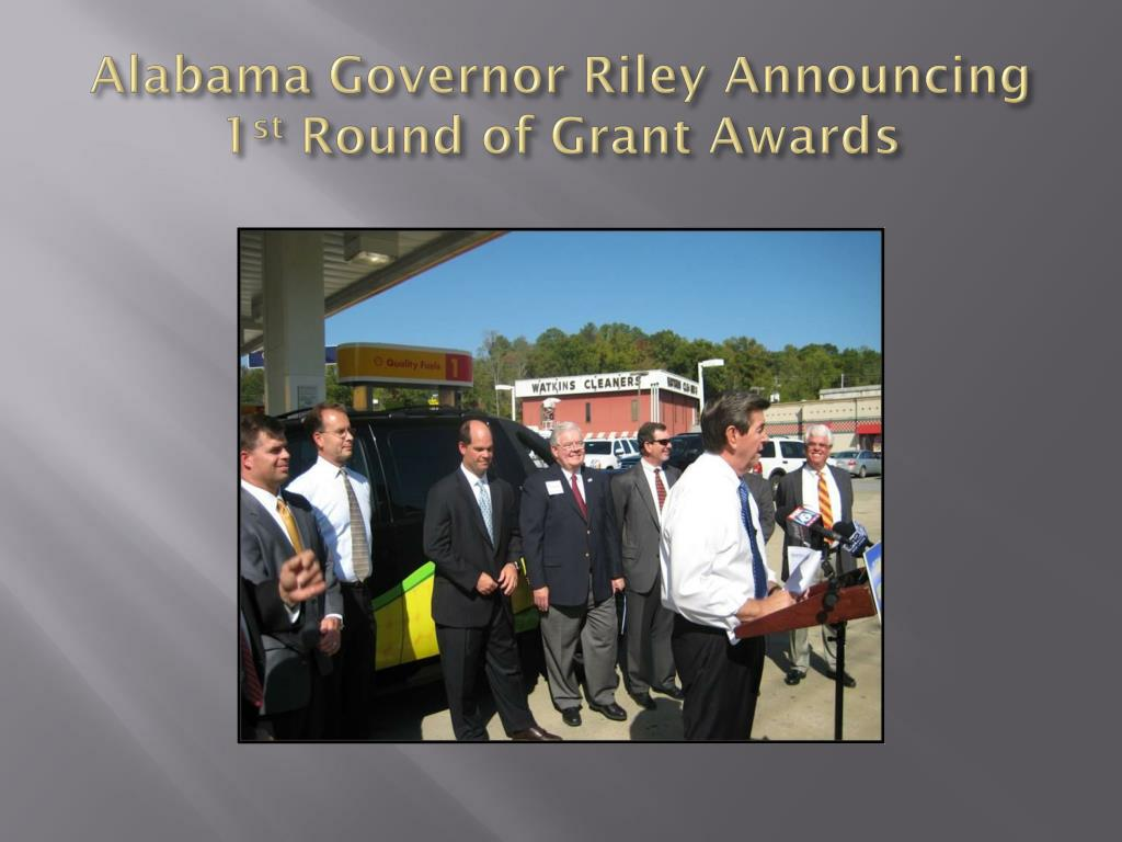 Alabama Governor Riley Announcing 1
