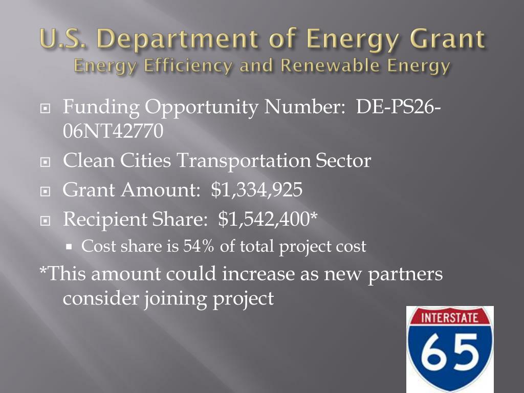 U.S. Department of Energy Grant