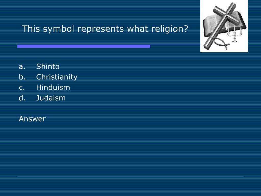 This symbol represents what religion?