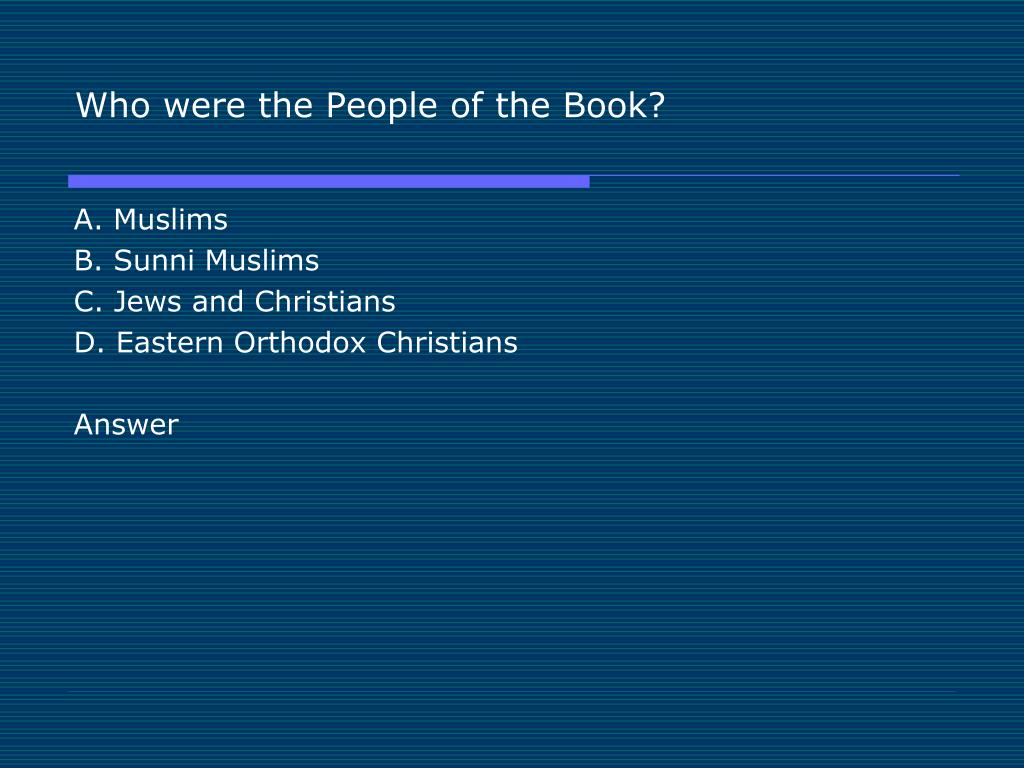 Who were the People of the Book?