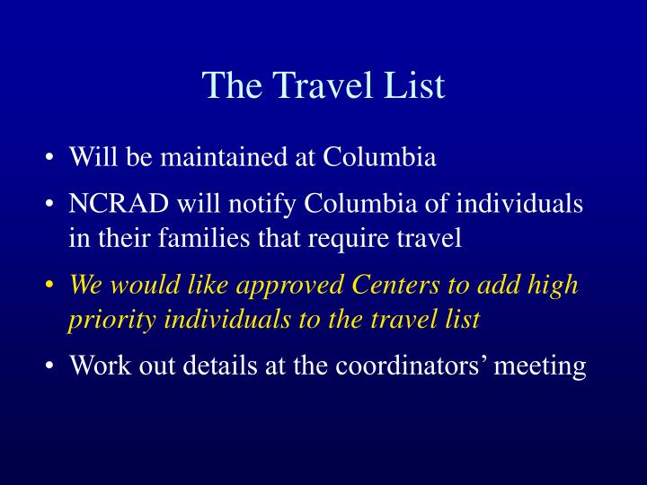 The Travel List