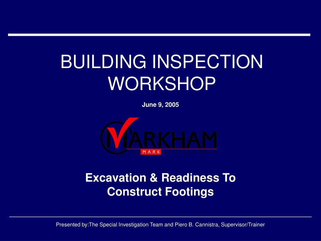 BUILDING INSPECTION WORKSHOP
