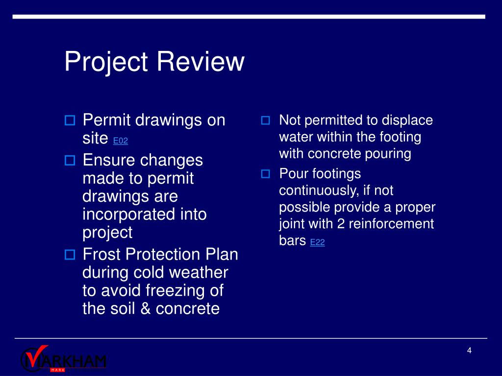 Permit drawings on site