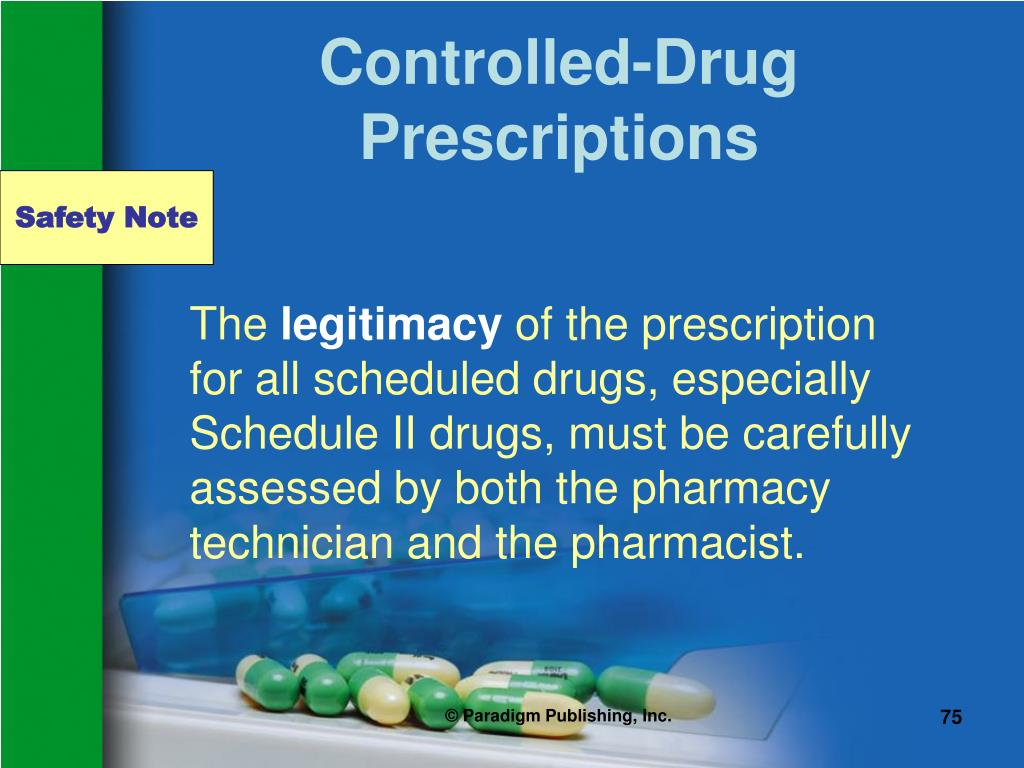 Controlled-Drug Prescriptions