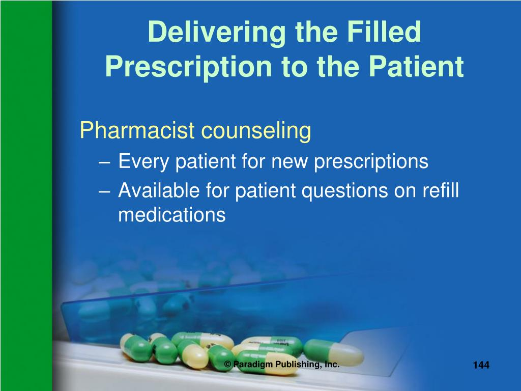 Delivering the Filled Prescription to the Patient