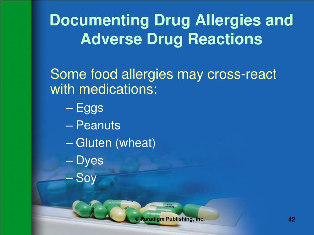 Documenting Drug Allergies and Adverse Drug Reactions