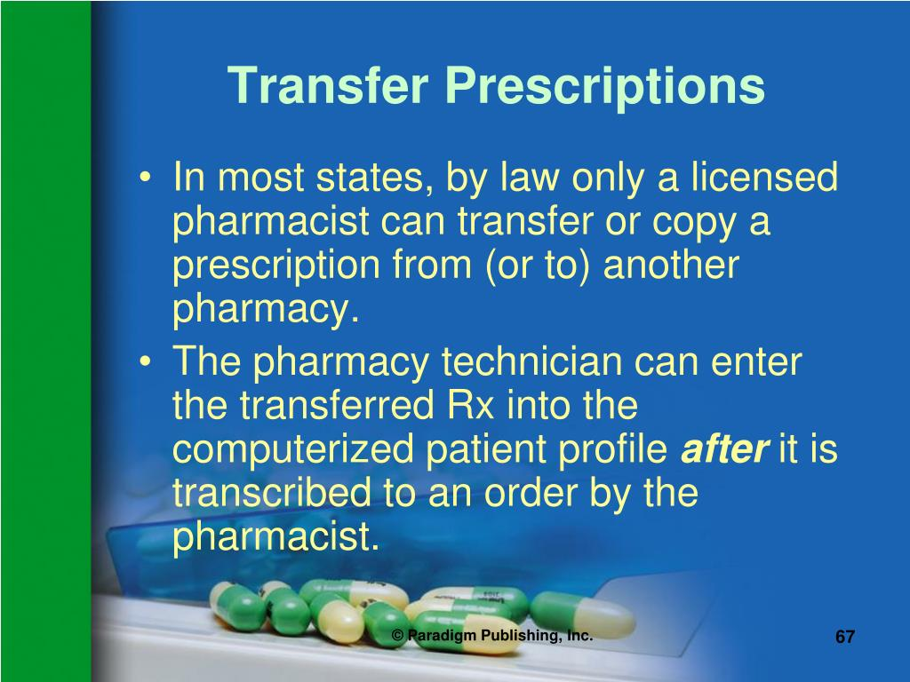Transfer Prescriptions