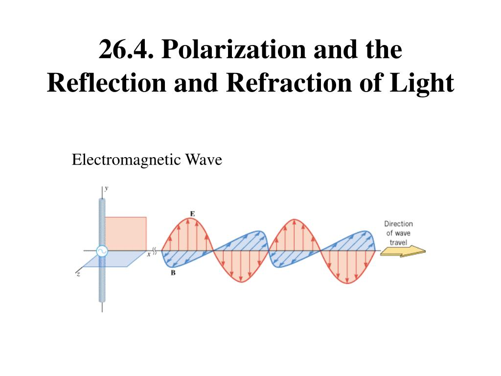 26.4. Polarization and the Reflection and Refraction of Light
