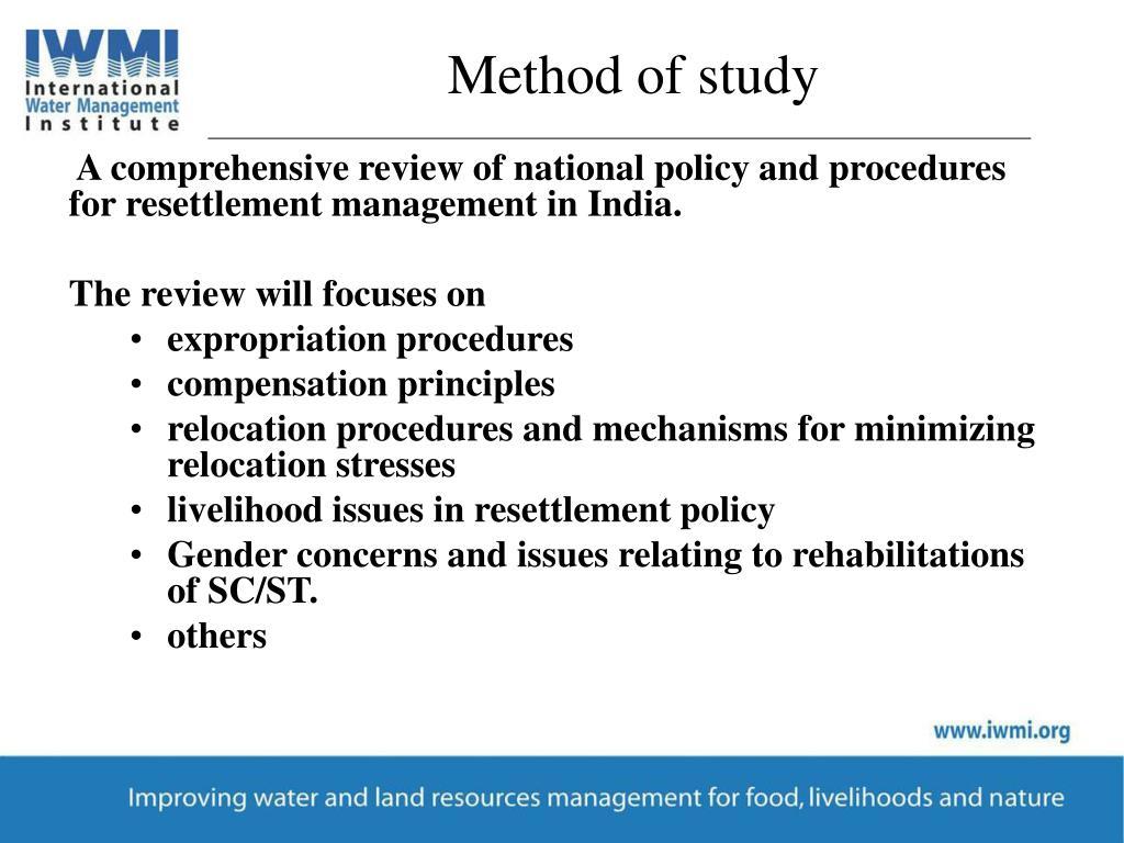 Method of study