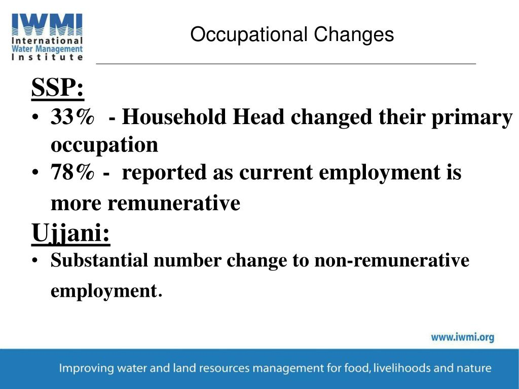 Occupational Changes