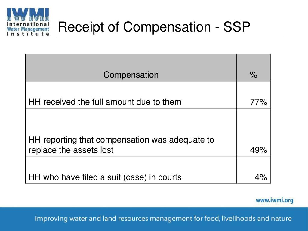Receipt of Compensation - SSP