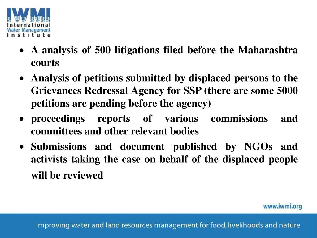 A analysis of 500 litigations filed before the Maharashtra courts