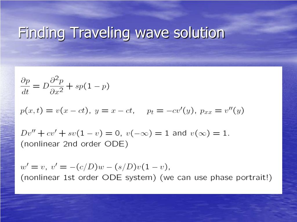 Finding Traveling wave solution