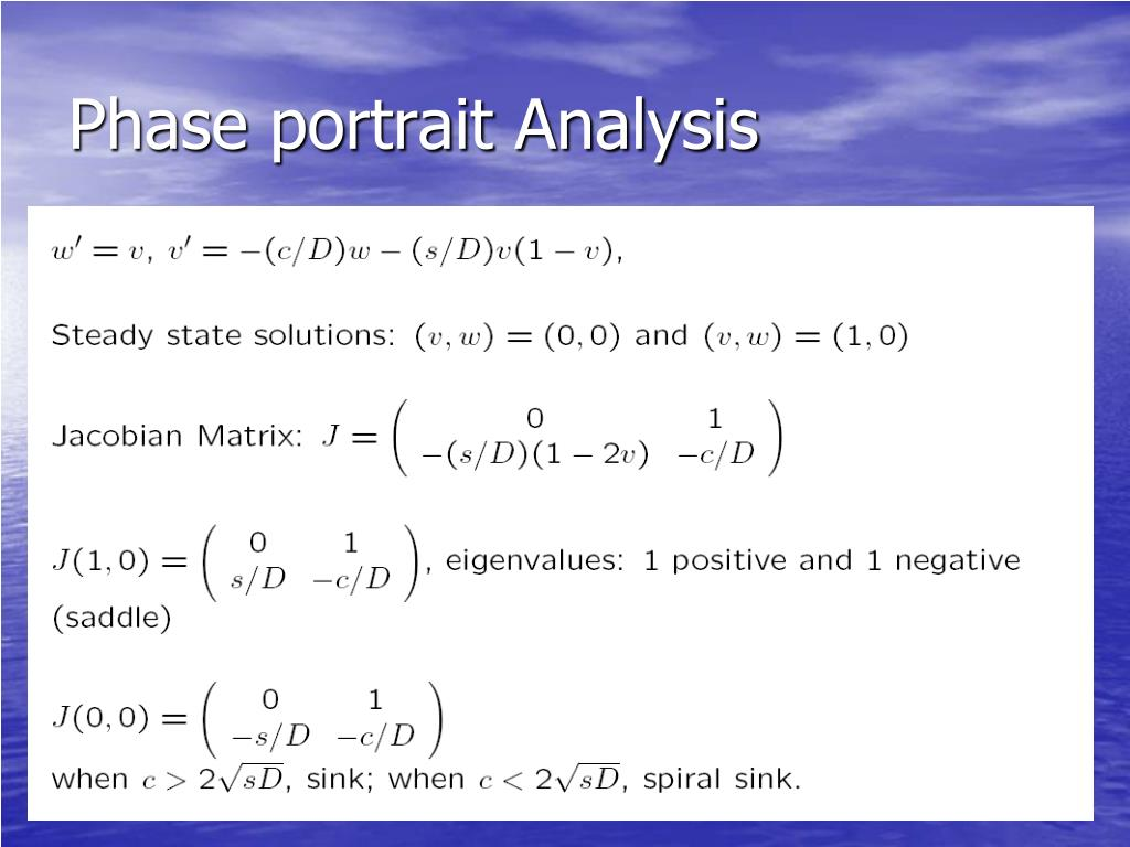 Phase portrait Analysis