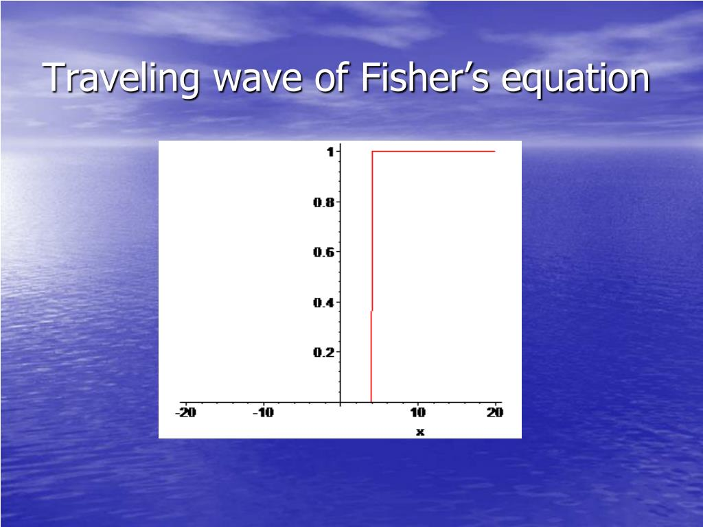 Traveling wave of Fisher's equation