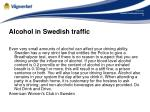 alcohol in swedish traffic