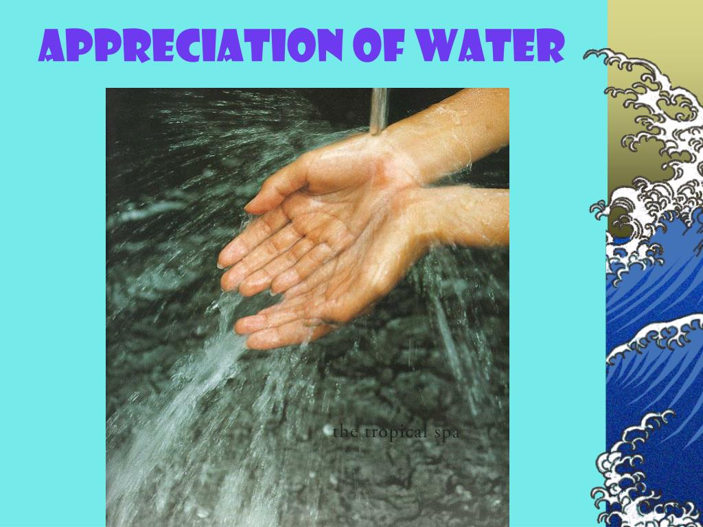 Appreciation of Water