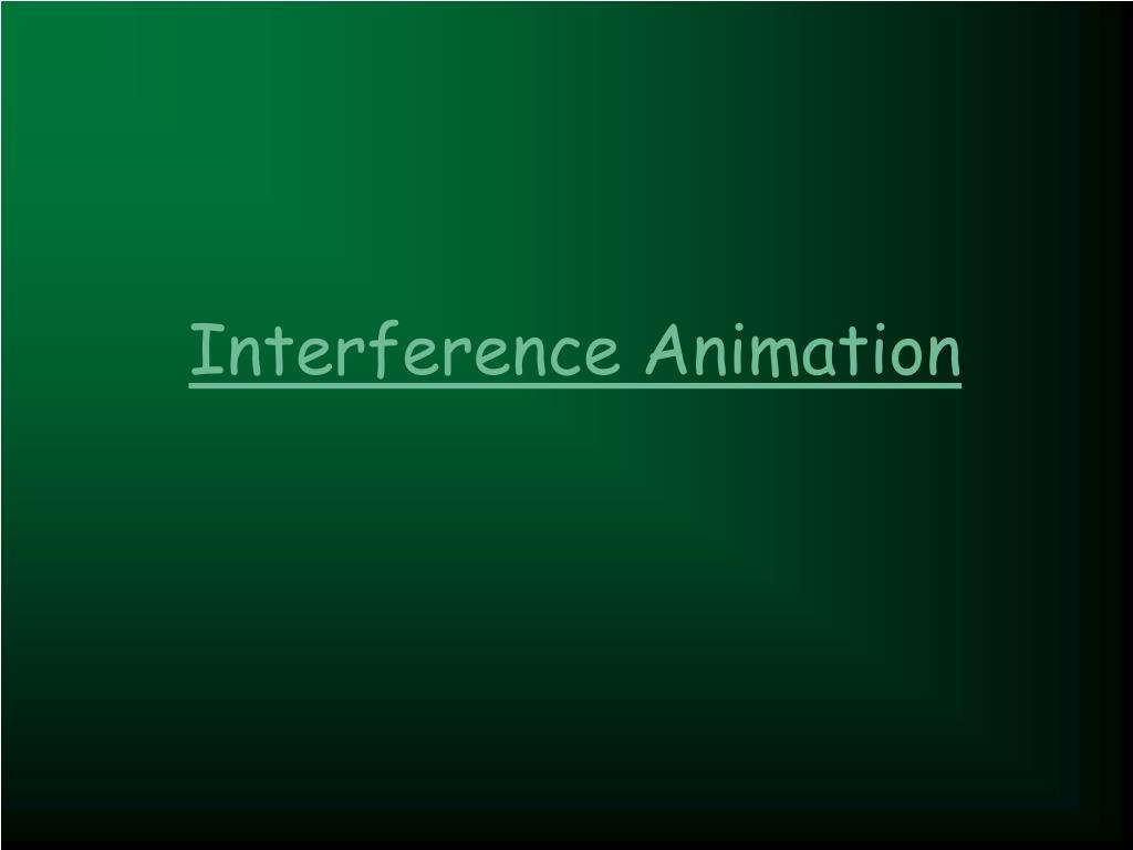 Interference Animation
