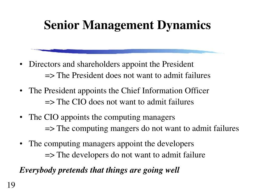 Senior Management Dynamics