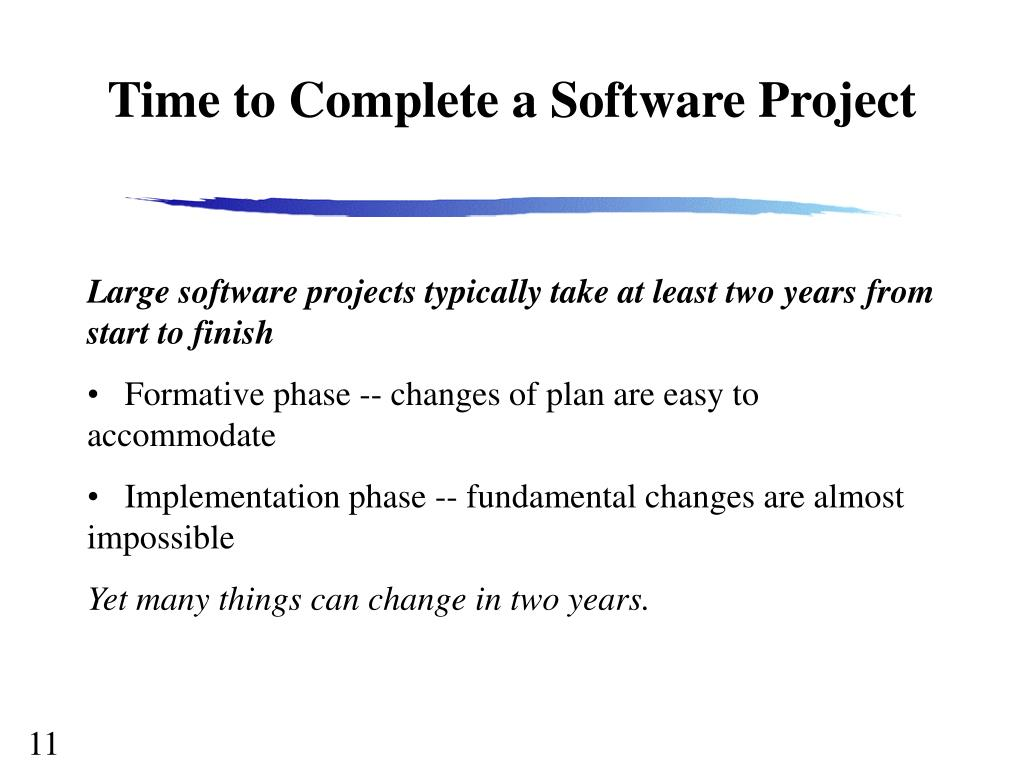 Time to Complete a Software Project