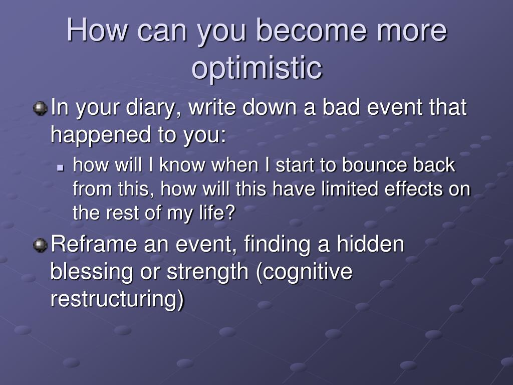 How can you become more optimistic
