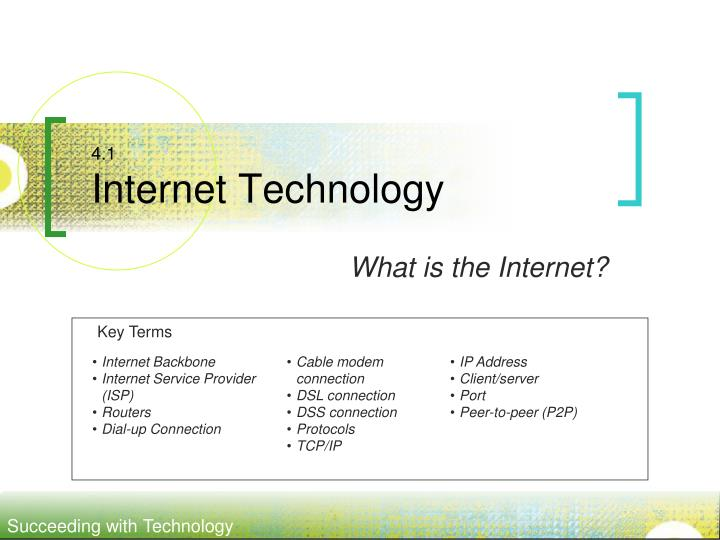 4 1 internet technology