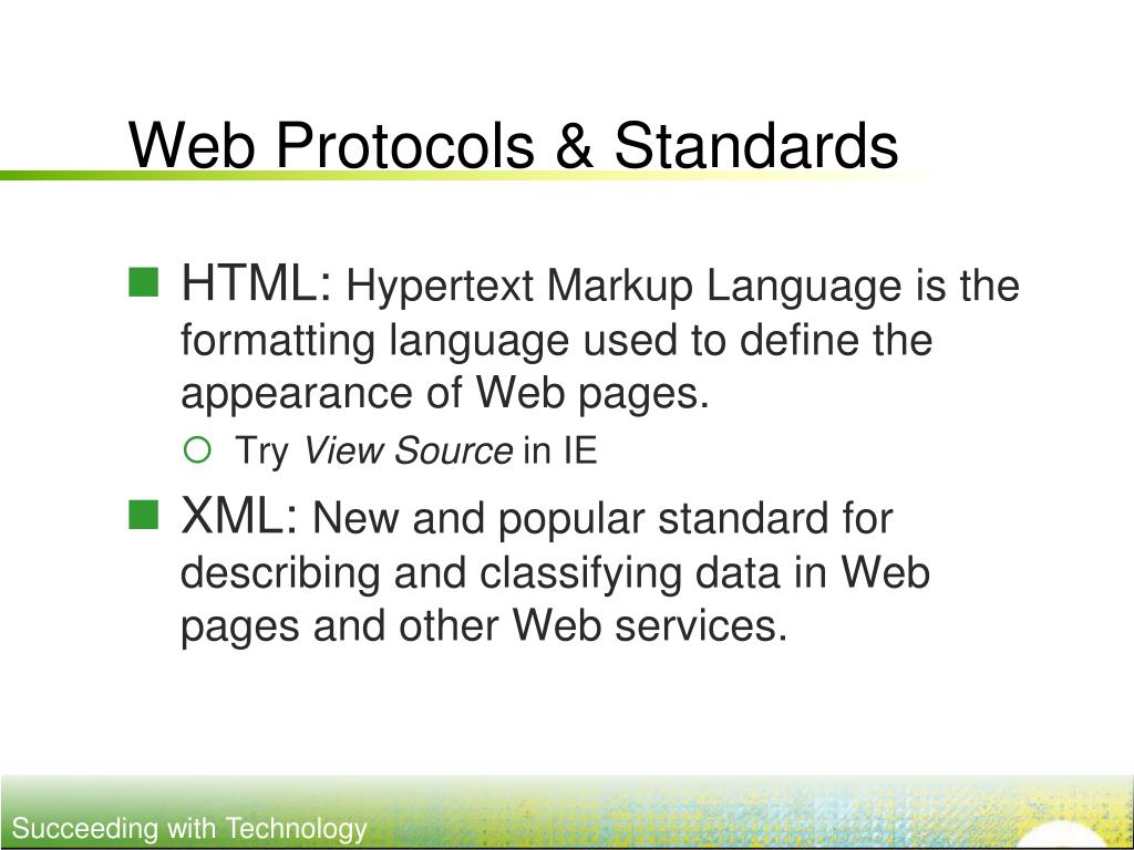 Web Protocols & Standards