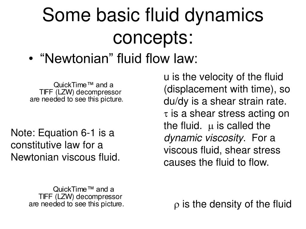 Some basic fluid dynamics concepts: