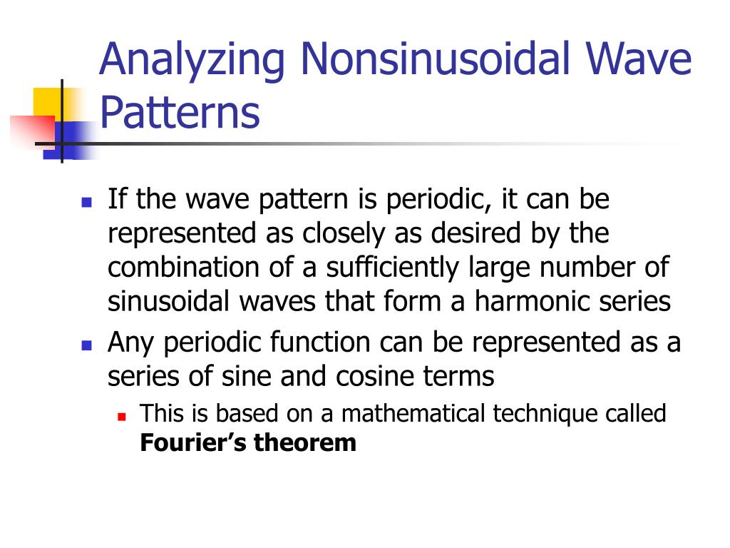 Analyzing Nonsinusoidal Wave Patterns