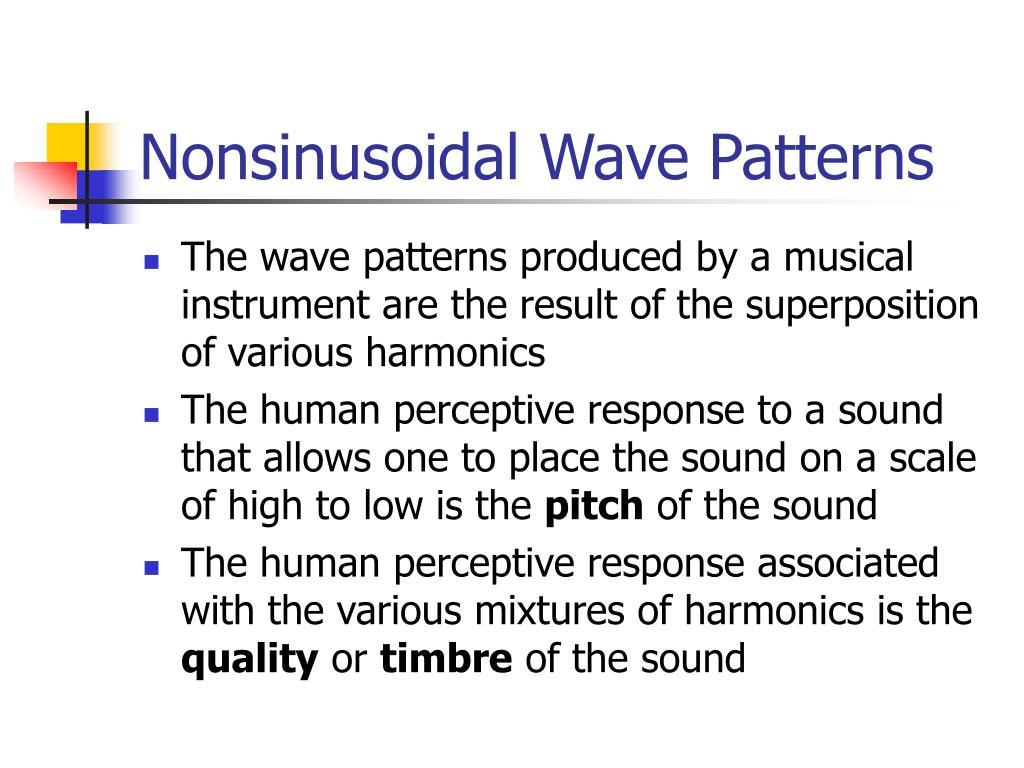Nonsinusoidal Wave Patterns