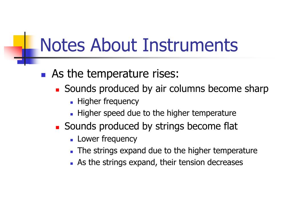 Notes About Instruments