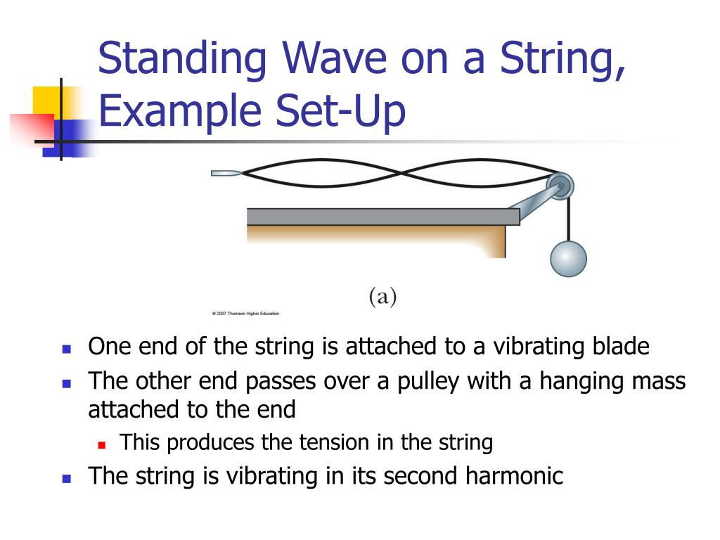 Standing Wave on a String, Example Set-Up