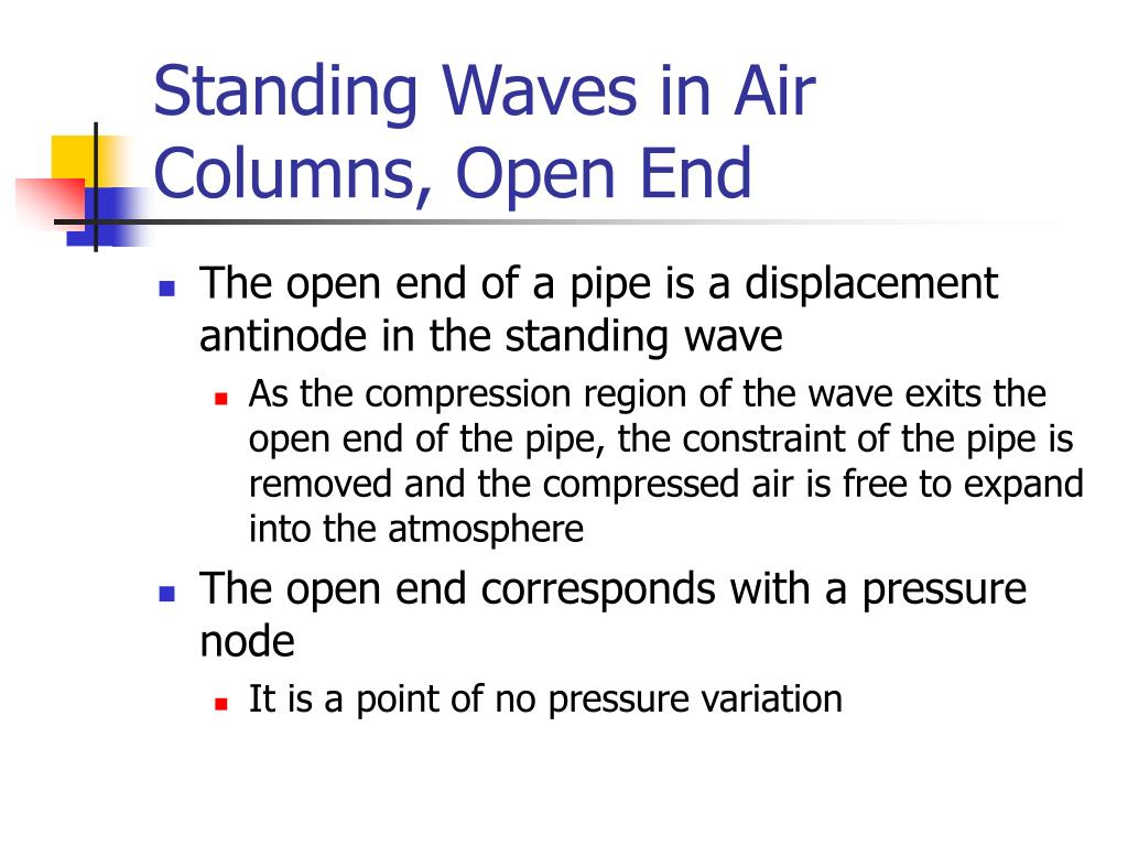 Standing Waves in Air Columns, Open End