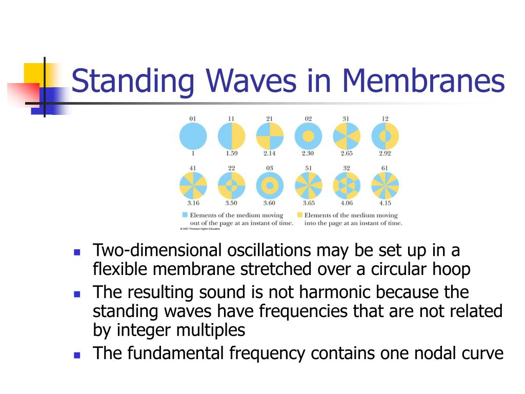 Standing Waves in Membranes