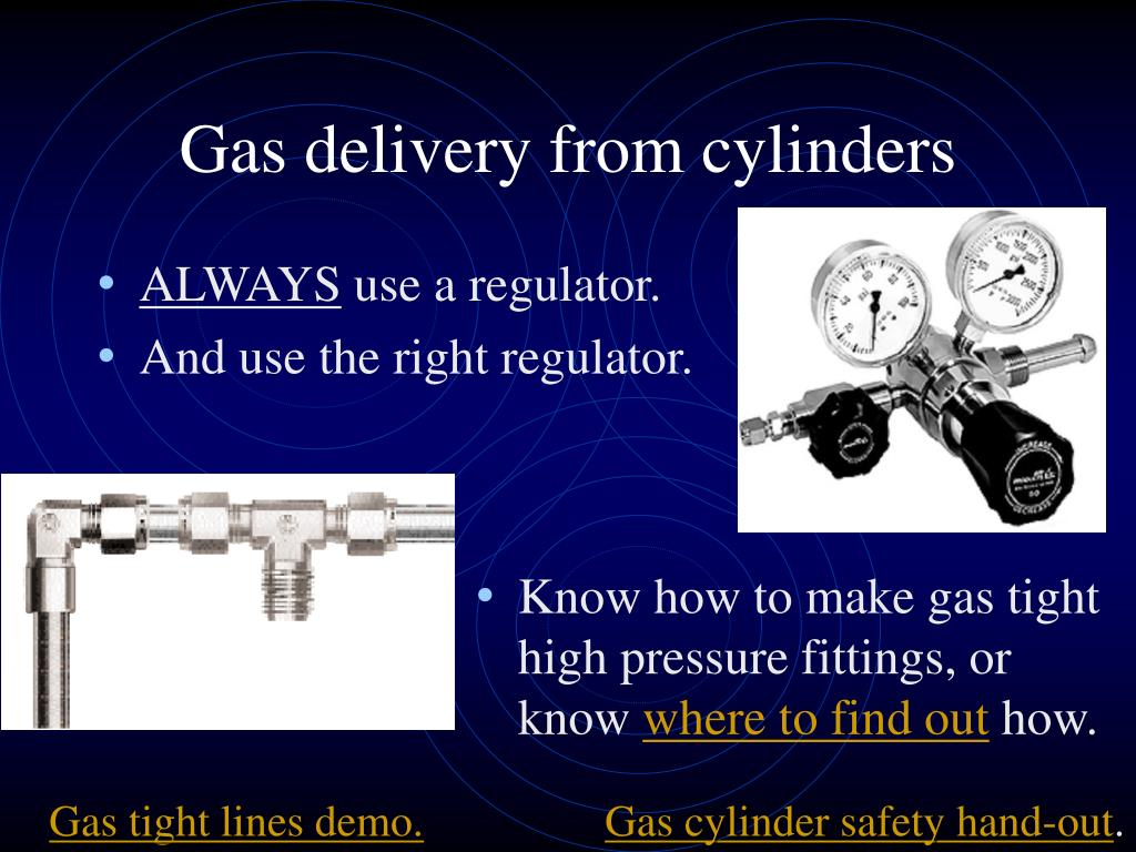 Gas delivery from cylinders