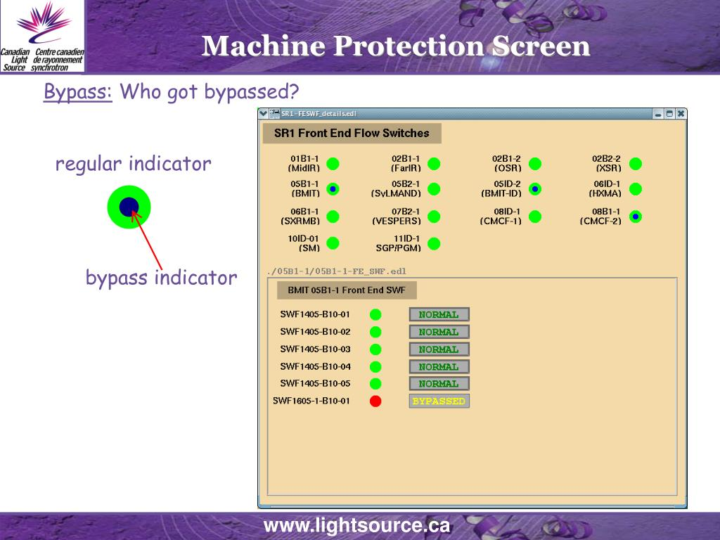 Machine Protection Screen