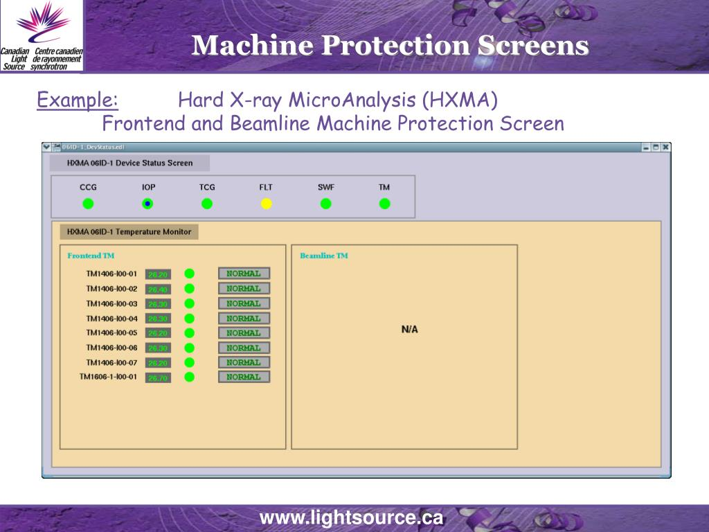 Machine Protection Screens