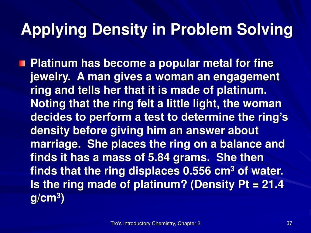 Applying Density in Problem Solving