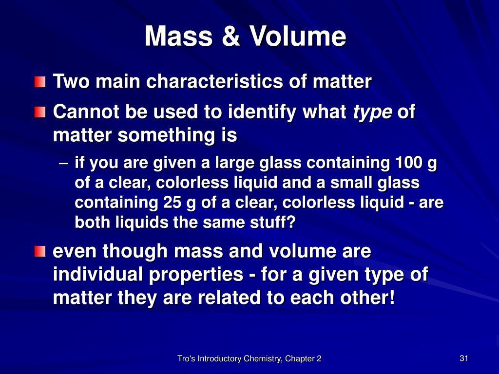 Mass & Volume