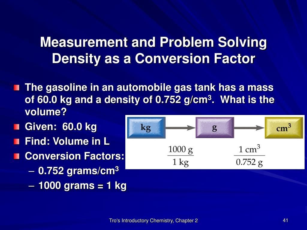 Measurement and Problem Solving