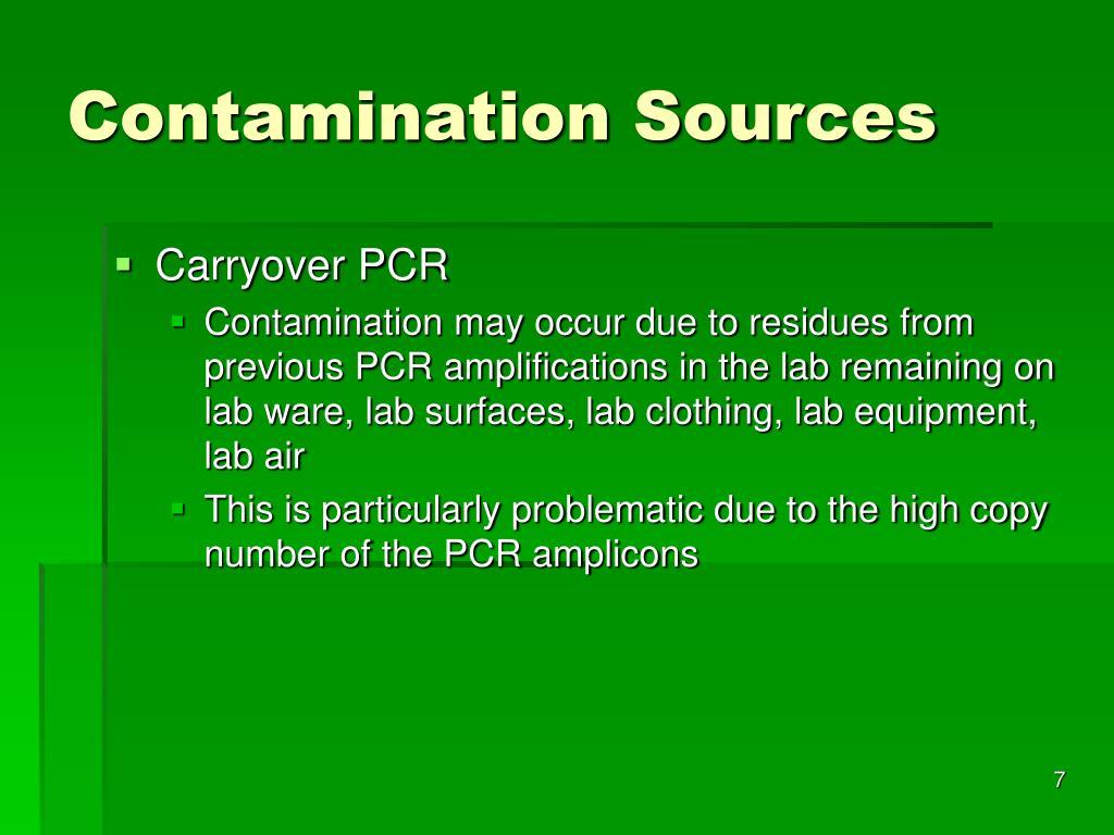 Contamination Sources