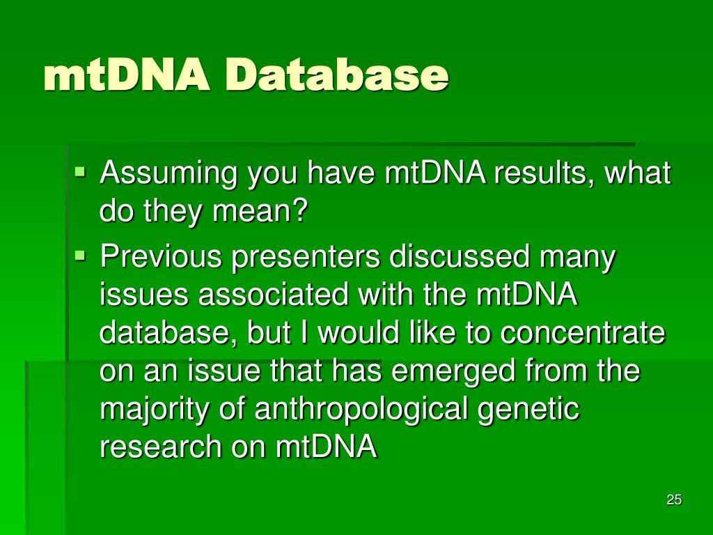 mtDNA Database