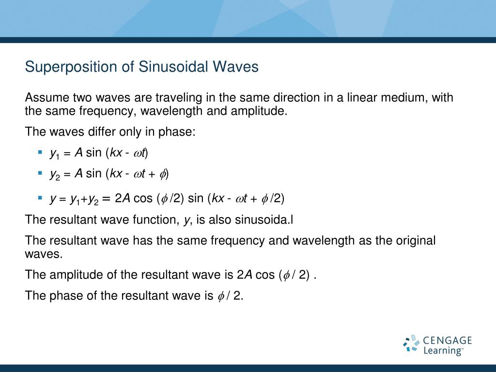 Superposition of Sinusoidal Waves