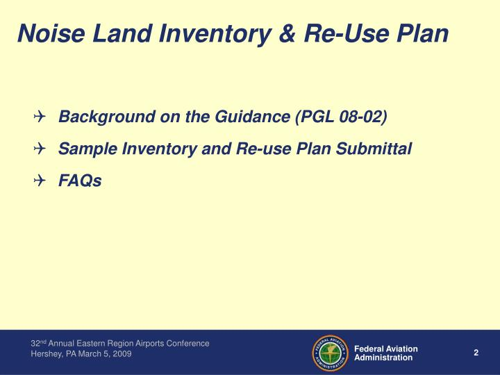 Noise land inventory re use plan