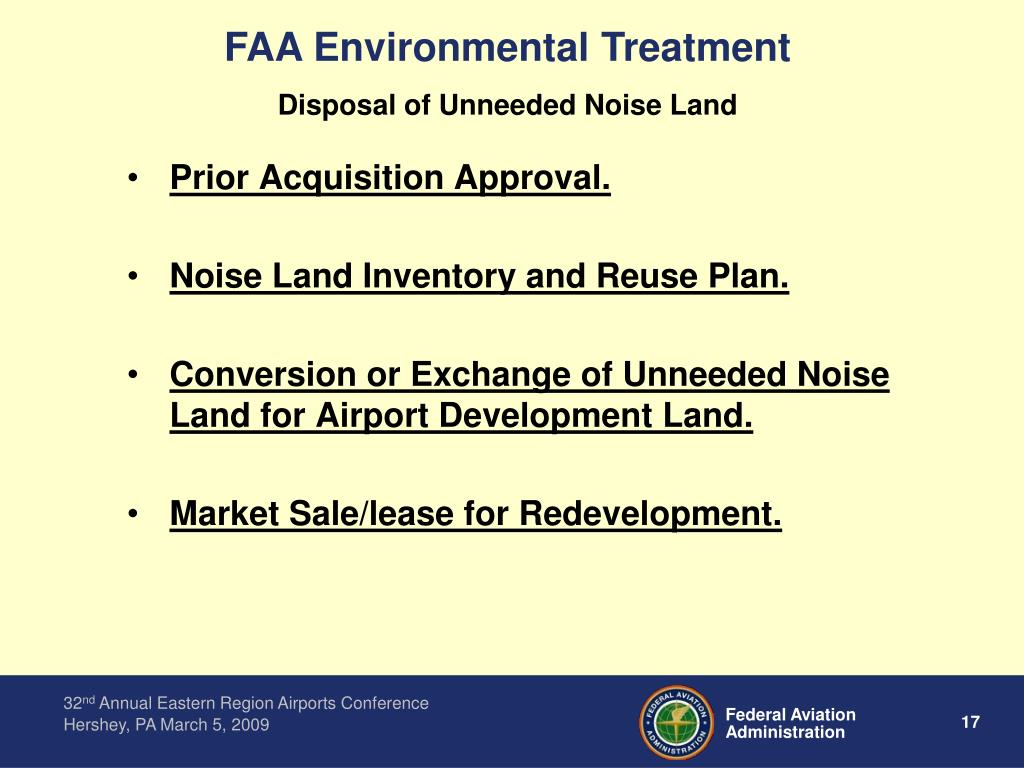 FAA Environmental Treatment